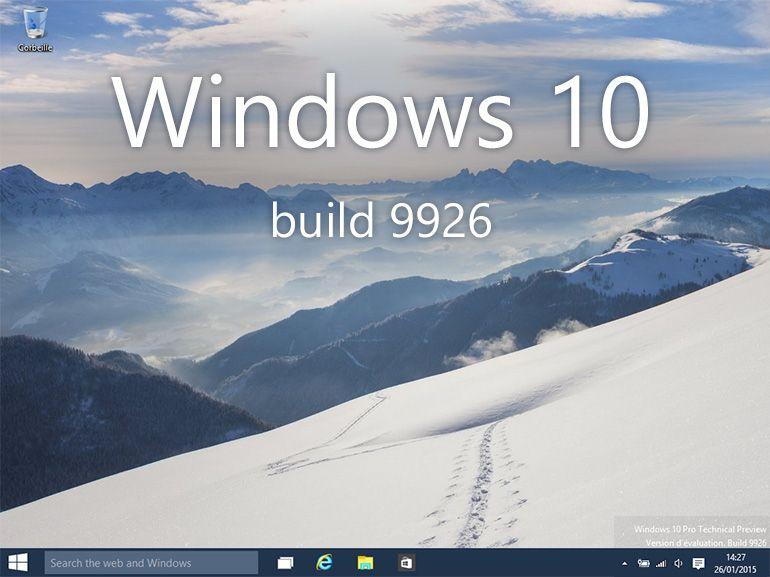 Windows 10 build 9926 : les nouveautés en images