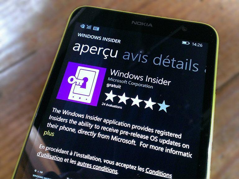 Le programme Windows 10 insider s'étend aux smartphones via l'application dédiée