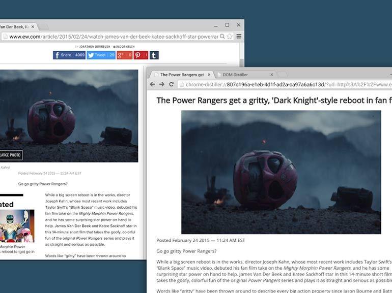 Chrome peut débarrasser les pages Web du superflu avec son mode lecture