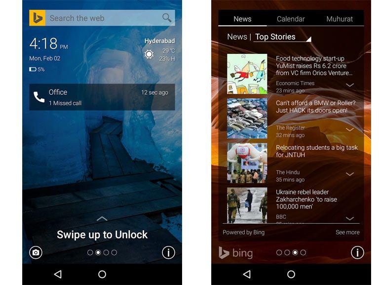 Avec Picturesque Lock Screen, Microsoft habille Android avec les couleurs de Bing