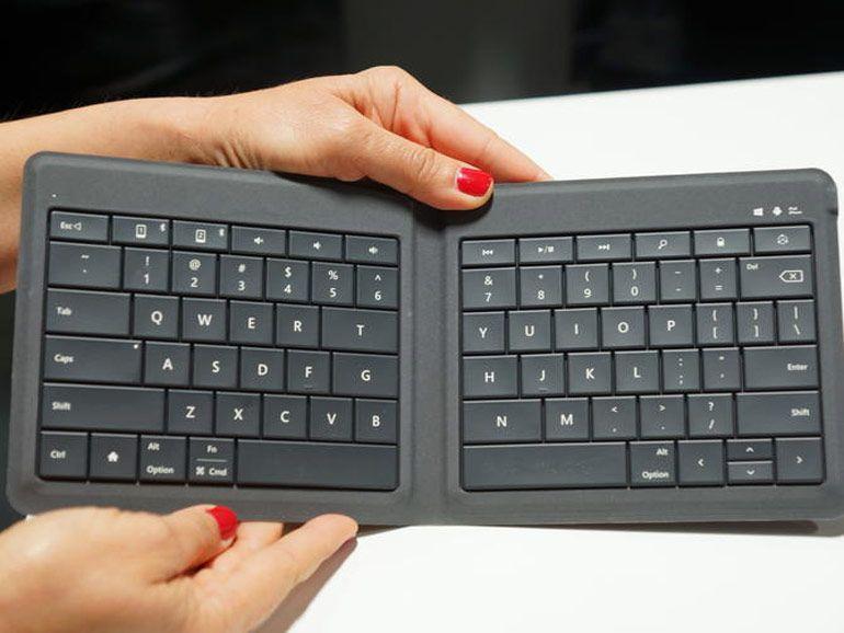 Microsoft dévoile un clavier pliable universel