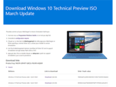 Windows 10 build 10041 : fichiers ISO, patchs et diffusion en mode lent