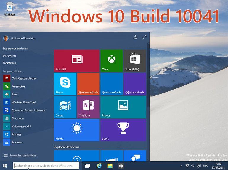 Windows 10 Build 10041  : nouvelle version à télécharger