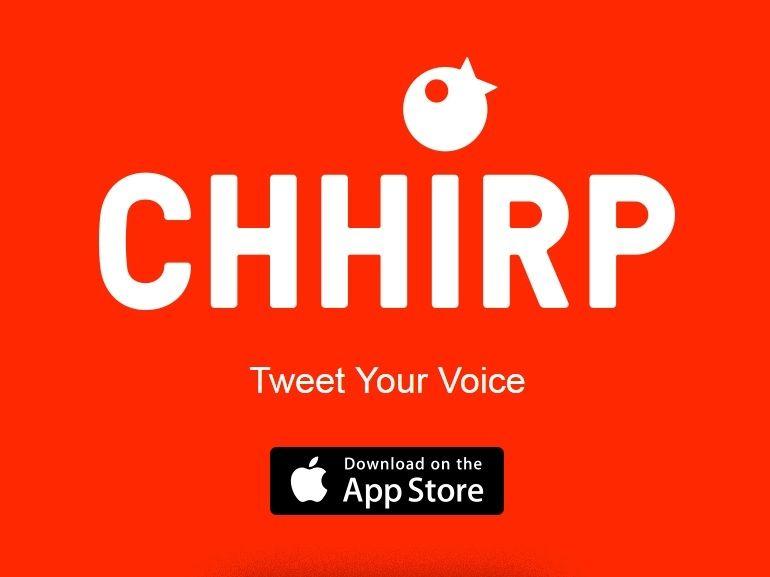 Chhirp : une application iOS pour créer des tweets audio de 12 secondes