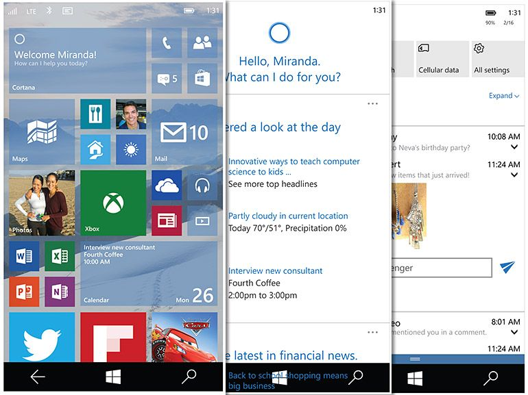 Windows Phone 10 : nouvelle build ce week-end avec plus d'appareils