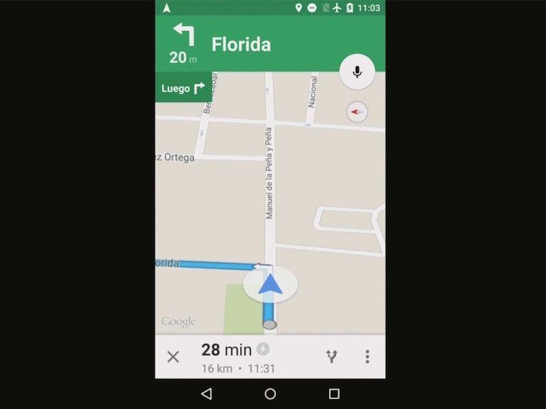 Nouveau Google Maps, la navigation hors ligne pour la fin de l'année