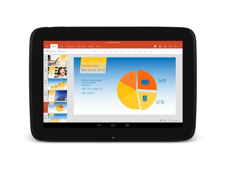 Microsoft Office installé dans les tablettes Android d'une vingtaine de fabricants