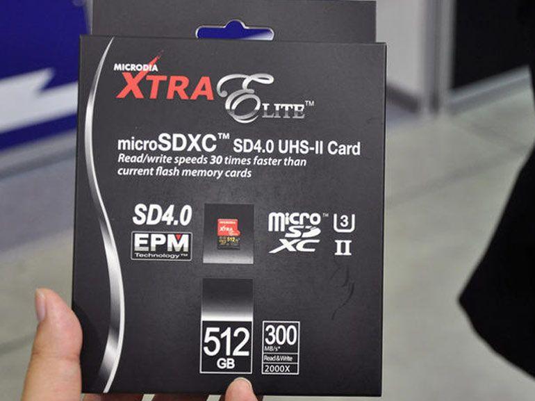 Microdia Xtra Elite : une carte micro SD de 512 Go à 1000 dollars