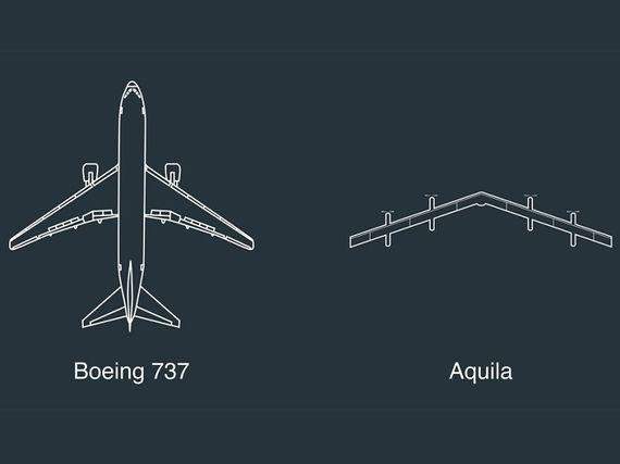 """Le drone """"géant"""" de Facebook prêt à prendre son envol"""