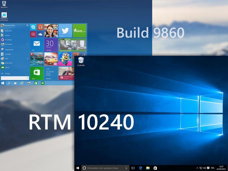 Windows 10 en images : des premières build à la version finale