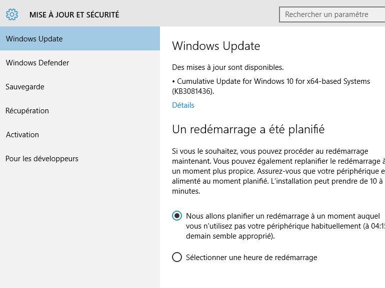 Windows 10 : une deuxième vague de mises à jour délivrées via Windows Update