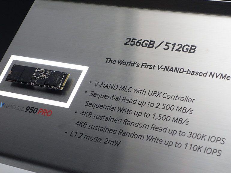 Samsung 950 Pro SSD : flagrant délit de vitesse