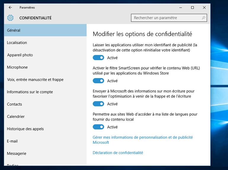 Mise à jour Windows 10 : Microsoft va afficher une fenêtre de rappel pour les options de confidentialité