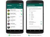 Google Drive s'insère dans WhatsApp Messenger sous Android