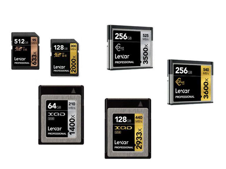 SD, CFast, XQD armada de cartes mémoire hautes performances chez Lexar