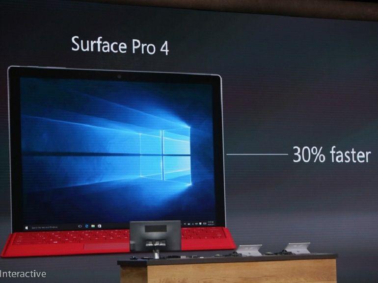 Microsoft annonce la Surface Pro 4, prix et date de sortie