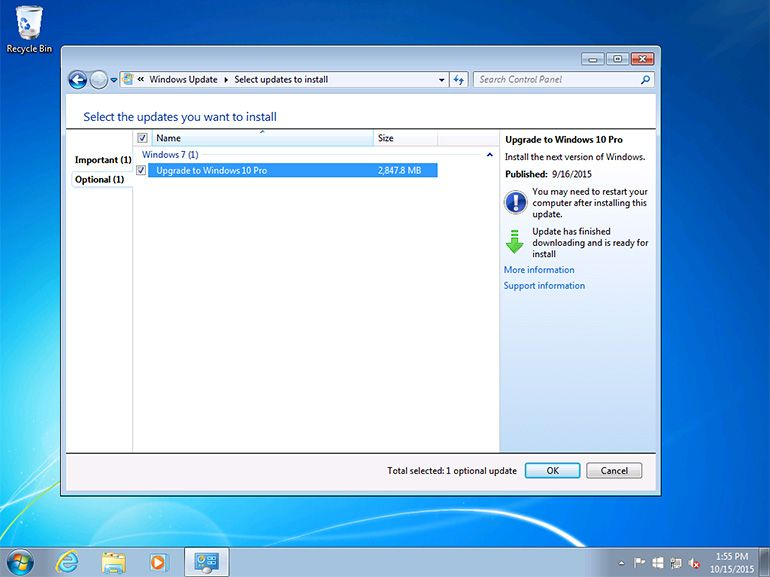 Installation forcée de Windows 10 : Microsoft admet une erreur