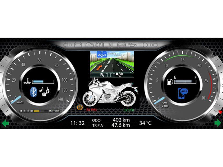 Deux-roues : le tableau de bord multimédia arrive