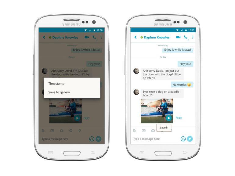 Le nouveau Skype pour Android permet d'enregistrer les messages vidéo
