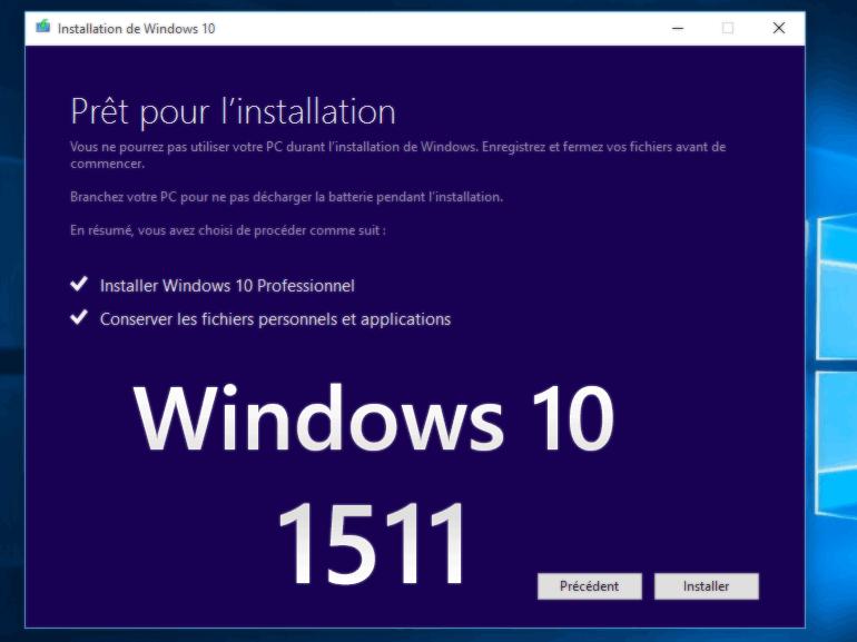 Windows 10 1511 : Microsoft limite l'accès à la mise à jour de novembre