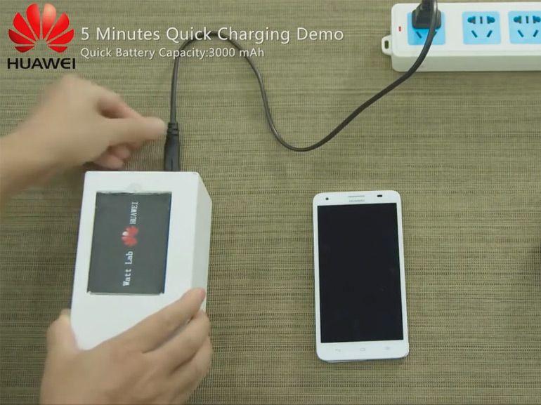 Des batteries qui se rechargent en 5 minutes bientôt chez Huawei ?