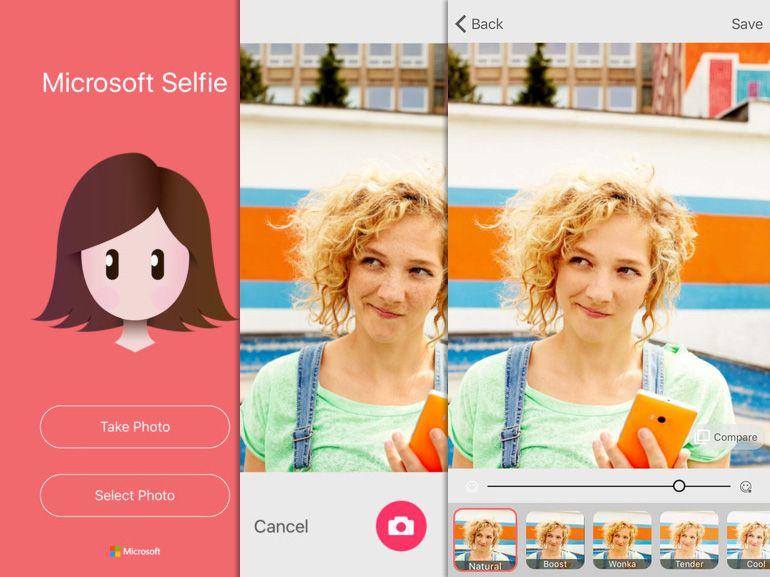Microsoft selfie : après iOS, l'application débarque sur Android