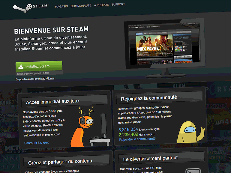 Steam : la plateforme de jeu en ligne met fin au support de Windows XP et Vista
