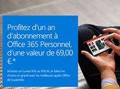 Un abonnement Office 365 offert aux possesseurs de Lumia 950 et 950 XL