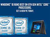 Windows 7/8 : support limité des nouveaux processeurs, Windows 10 s'impose