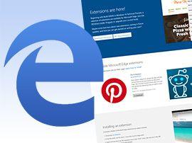 Edge : les premières extensions arrivent bientôt pour les testeurs