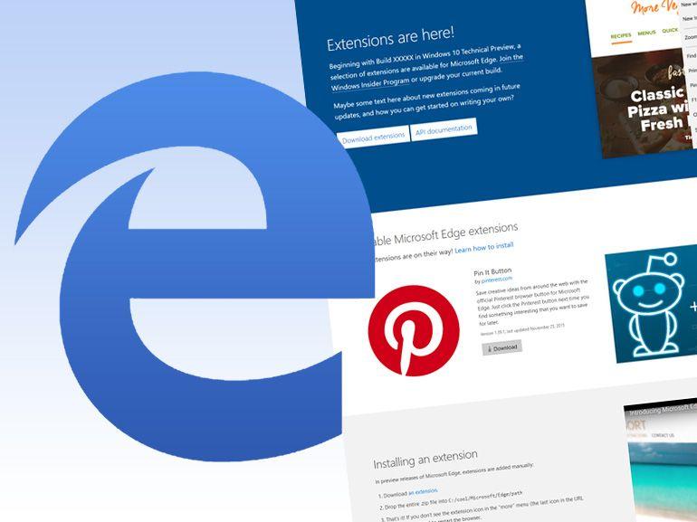Microsoft Edge : des extensions en petit nombre, mais de qualité