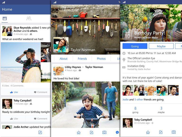 WP 8.1 / W10 mobile : nouvelle bêta de l'app Facebook, sans les boutons de réactions