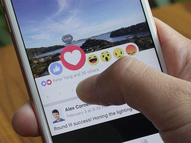 Facebook : des nouveaux boutons à côté du j'aime