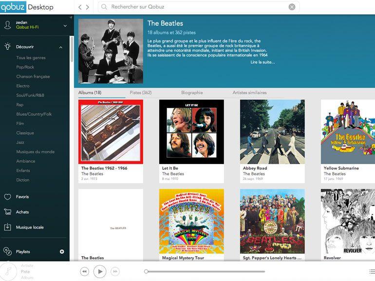 La discographie des Beatles disponible chez Qobuz