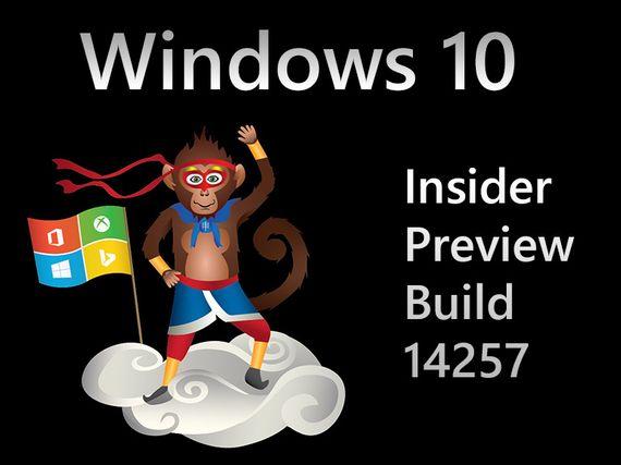 Windows 10 Build 14257, une version pour l'année du singe