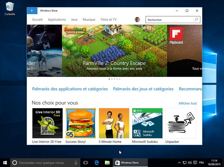 Windows Store : 3 milliards de visites depuis l'arrivée de Windows 10