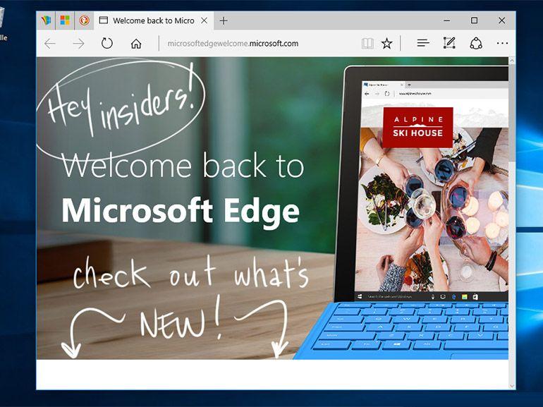 Microsoft Edge : le traitement javascript optimisé pour la mise à jour anniversaire