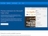 Edge : un aperçu des extensions sur une page officielle