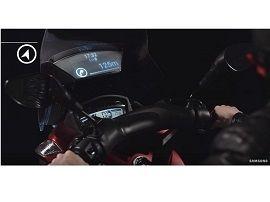 Samsung présente un concept de pare-brise intélligent pour moto