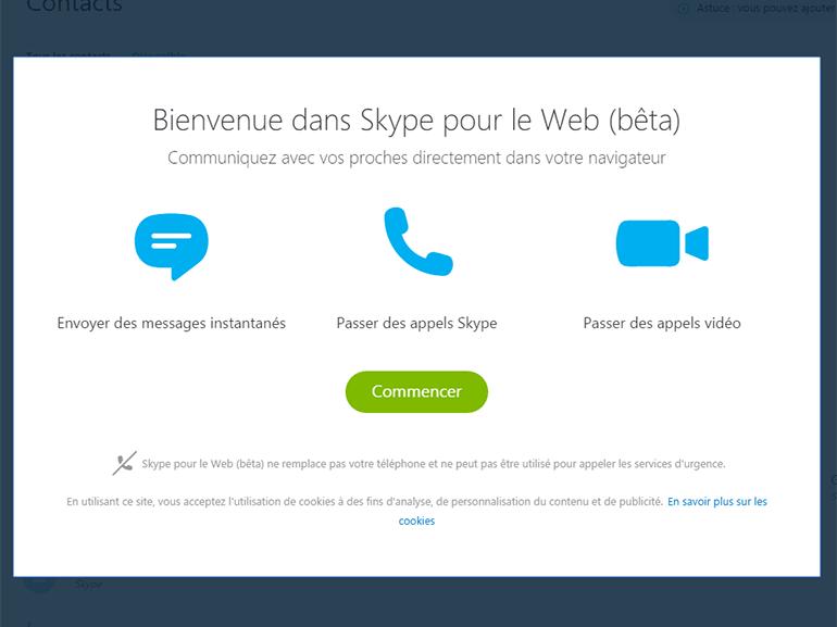 Skype active les appels sur fixes et mobiles depuis sa version web