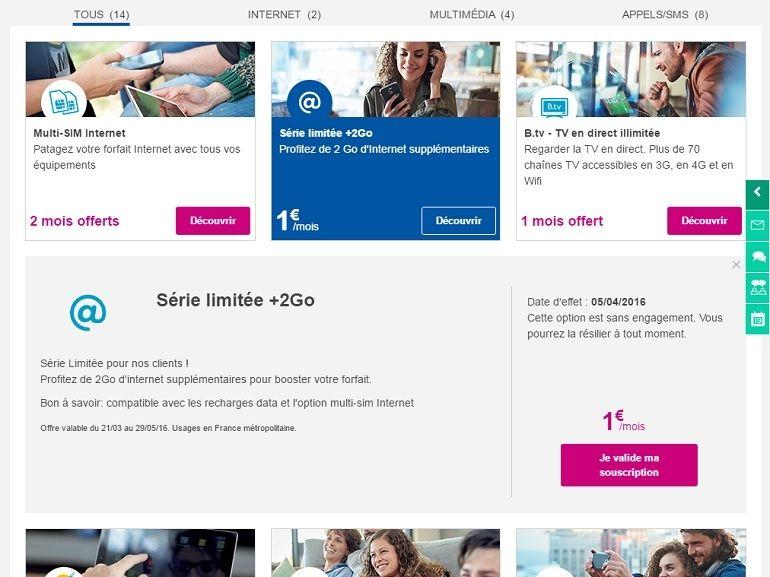 Bon plan : 2 Go à 1 euro pour les abonnés Bouygues Telecom