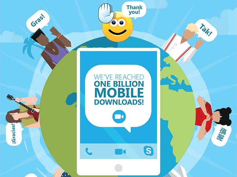 Skype sur mobile : le milliard de téléchargements atteint