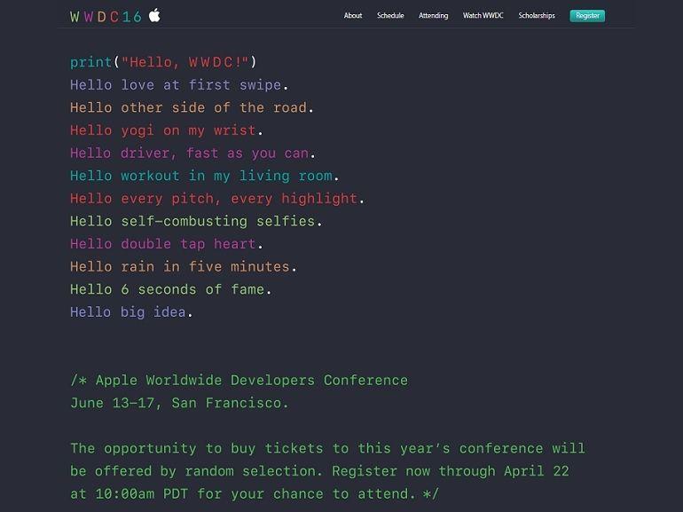 WWDC 2016 : la keynote aura lieu le 13 juin, à quoi s'attendre
