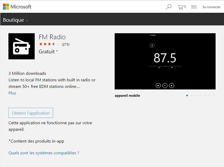Windows 10 mobile : l'application Radio FM ne reviendra pas