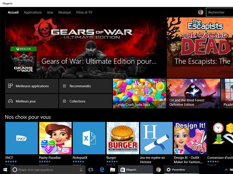 Windows 10 : un nouveau Windows Store se montre dans les Preview