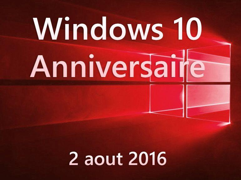 Windows 10 : la version anniversaire gratuite le 02 août confirmée