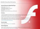 Flash Player : une faille de sécurité exploitée, mais bientôt patchée