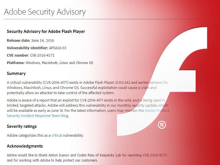 Flash Player : vers la fin des mises à jour et de la distribution pour 2020