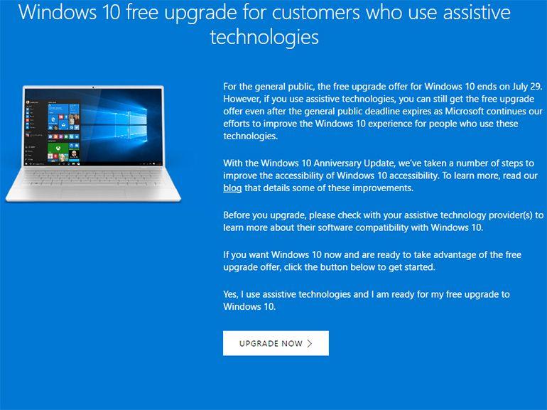 Windows 10 gratuit, ce n'est pas encore tout à fait fini
