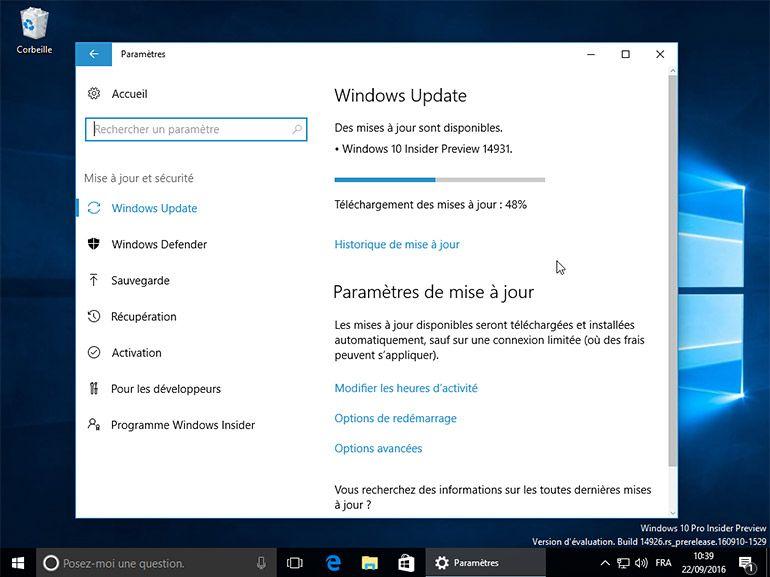Windows 10 build 14931 : SMS Skype, Cartes, Commentaire et USB Audio 2.0